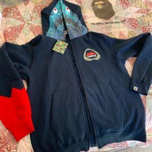 bape x jaws shark hoodie
